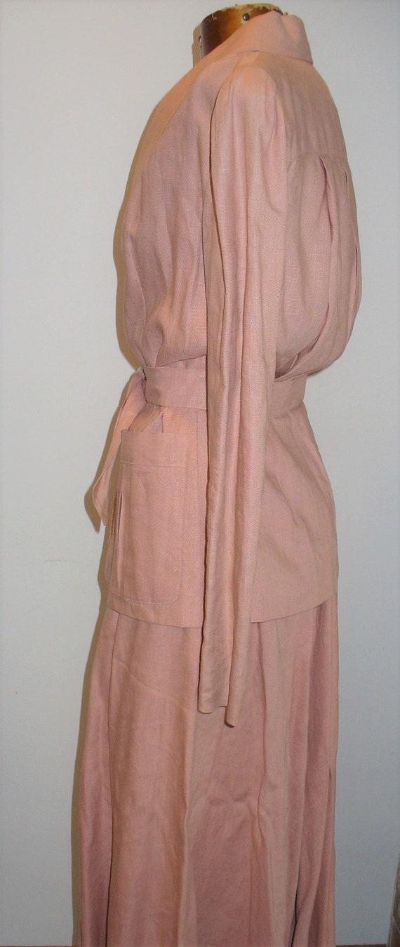 Ralph Lauren Rose Linen Ladies Jacket Suit - image 6