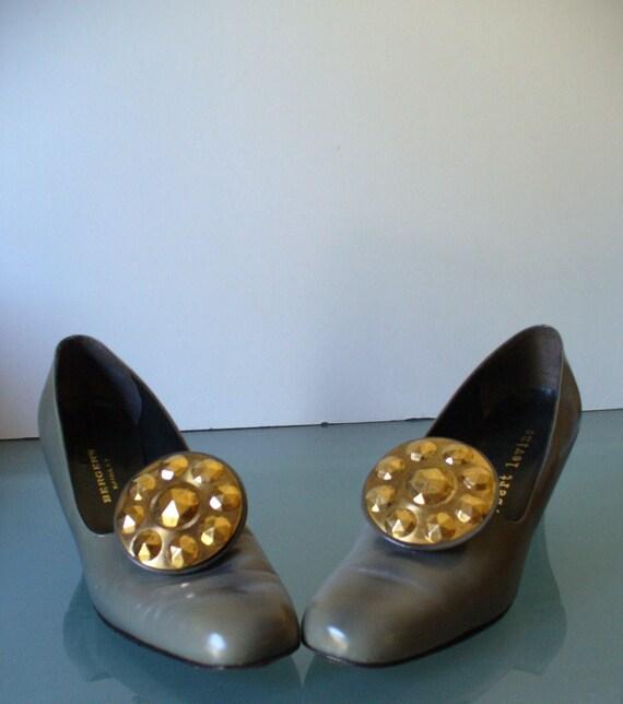 Vintage Herbert Levine  Pilgrim Buckle Shoes Size