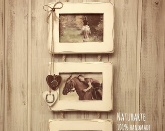 Wall Triple Picture Frame - white