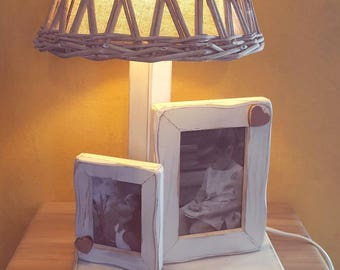 Table lamp with picture frames