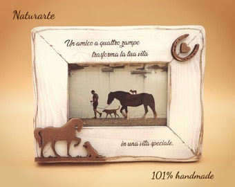 Picture frame Horse & Dog
