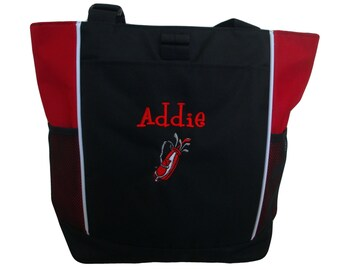 Tote Bag Personalized Golf Golfing Sports Clubs Bag Monogrammed Many Colors  to Choose 21cf4b9647e