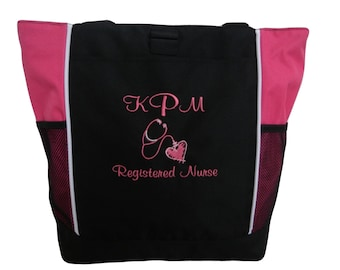 Surgical Scalpel Nurse RN CNA Personalized Embroidered Small Tote LPN
