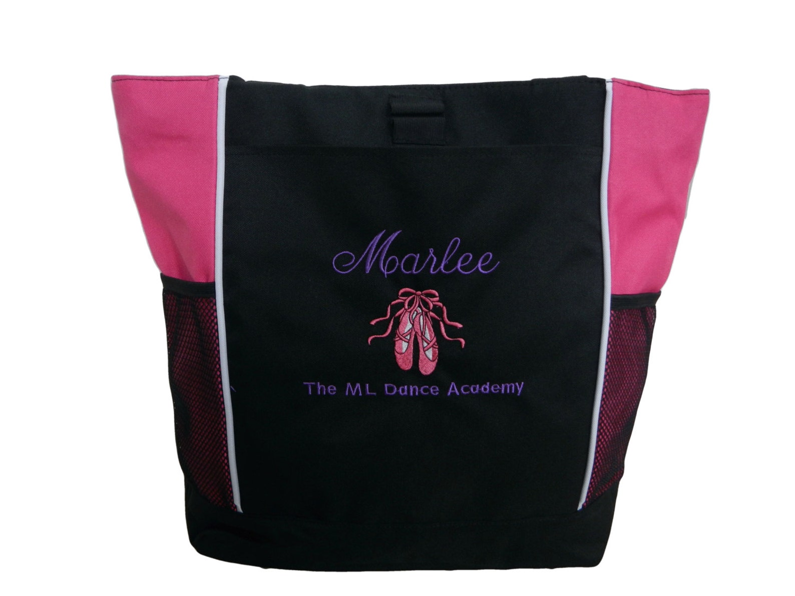 ballet shoes ballerina princess dancer pink dance team dancer jazz hip hop tote bag personalized