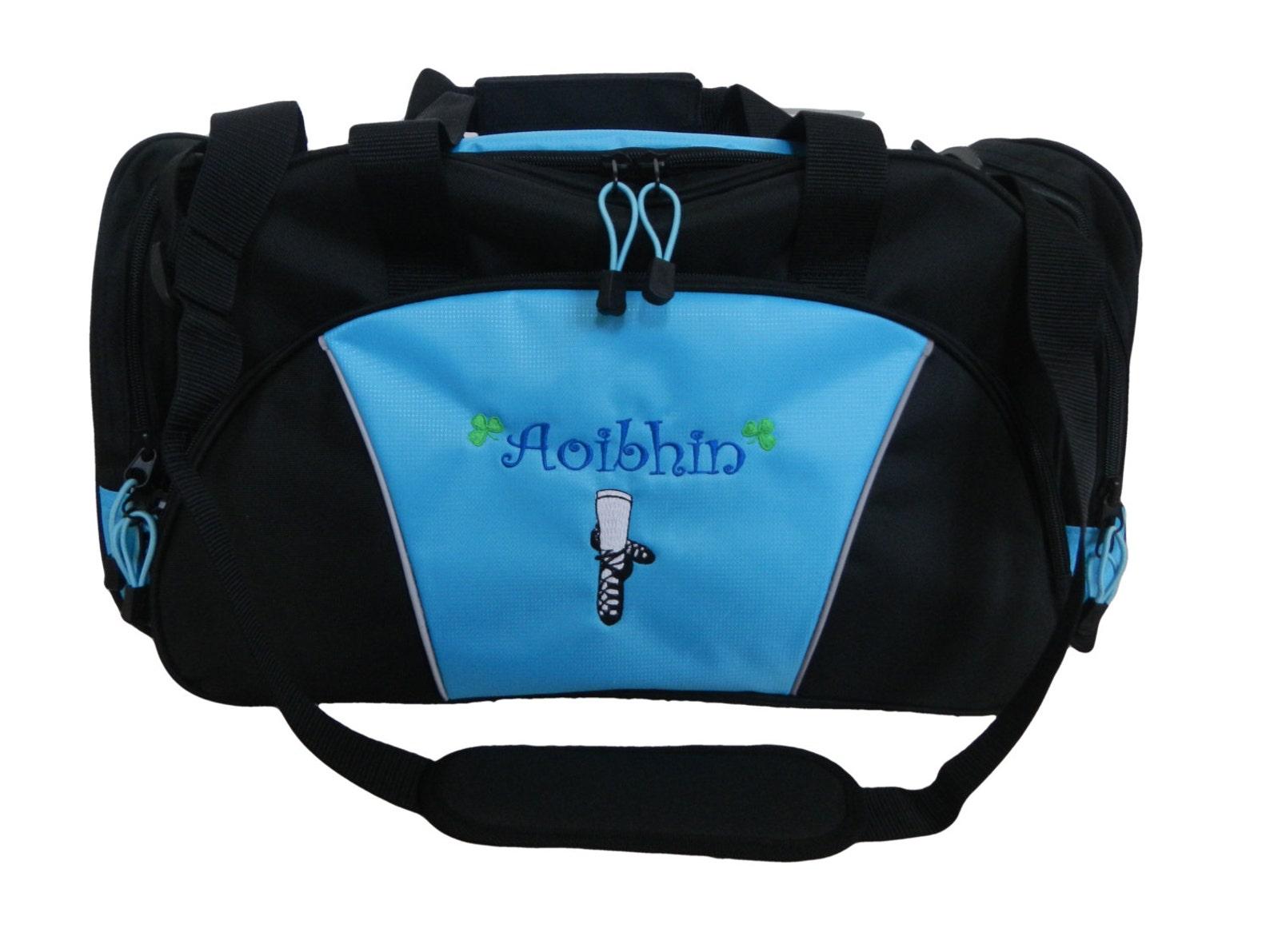 duffel bag personalized dancer dance irish dance jig ghillie shoes celtic shamrock ballet girl monogrammed duffle travel