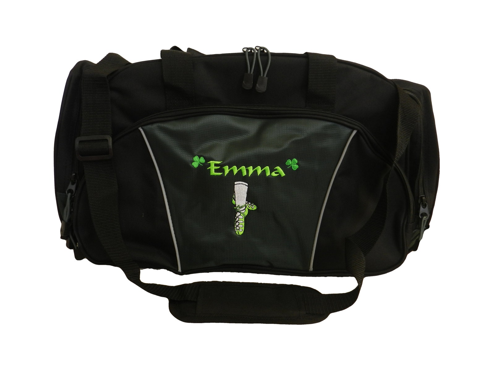 duffel bag personalized dancer dance irish dance jig ghillie shoes celtic shamrock ballet girl monogrammed duffle travel