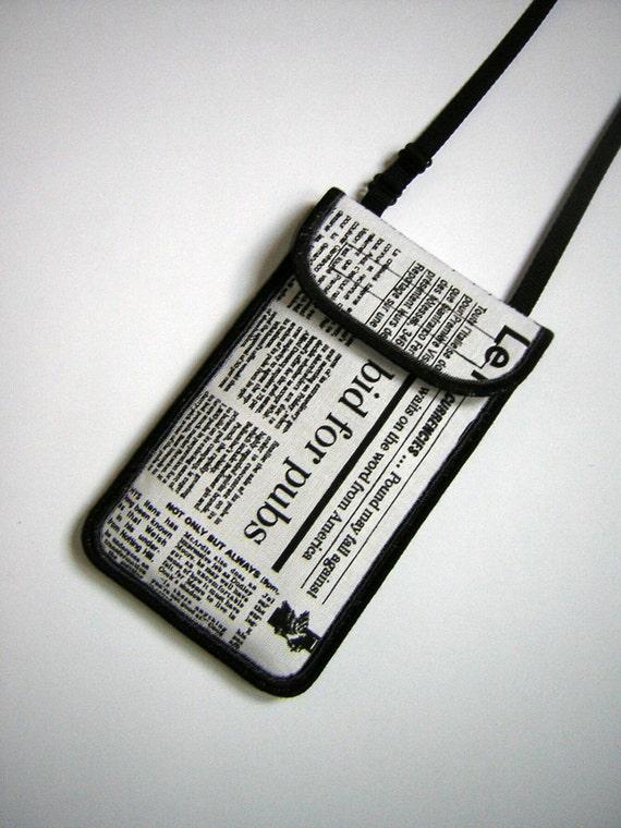Portable t l phone tui tour de cou bandouli re iphone 6 plus for Pochette pour couteaux de cuisine
