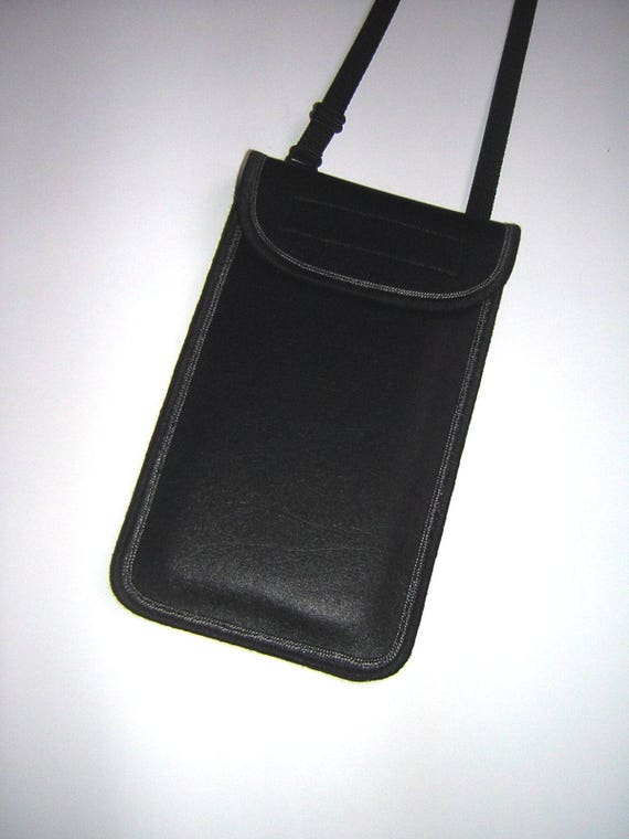 iPhone 8 Plus Case Small Crossbody Bag smartphone cover Cell Phone Purse  Cute Hipster Black cellphone fabrics bag imitation leather fabrics a09c635695764