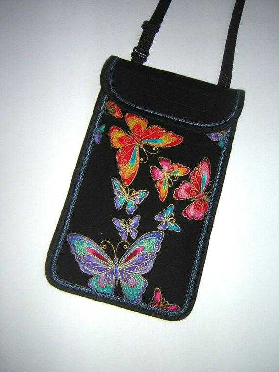 Smartphone Kleine Handtasche Schmetterlinge Süße Iphone Tasche In Hals Sling Umhängetasche Mini Bunte Crossbody Handy 8Fall Schwarz Cover wuOikXlPTZ