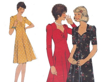 SALE! 1970s Boho Dress In 2 Lengths Style 4812 Boho Maxi Sweetheart Neckline Gathered Bust Size 10 Bust 32 1/2 Vintage Sewing Pattern