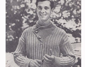 """Original 1950s Knitting Patterns Spinnerin Volume 141 Hand Knits for Men Sizes Chest 36 - 46"""" Fashion and Accessories Chest"""