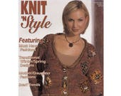 Knitting Magazine Knit 39 n Style No. 124 April 2003 Transitional Season Designs Mother Daughter Fashion Scarf Trends Finishing More
