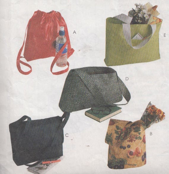 PATTERN for a  QUILTERS TOTE bag ORGANIZERS *UNCUT 850