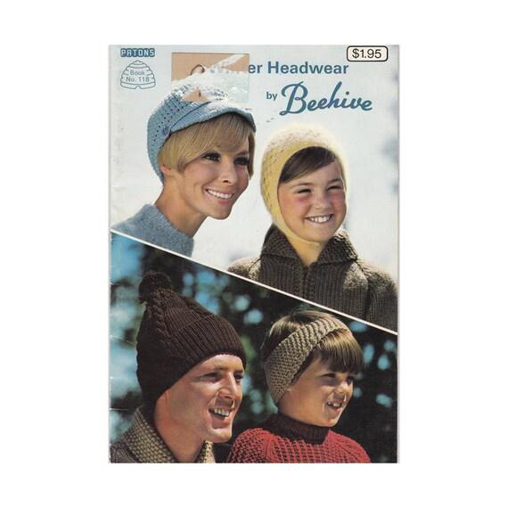 1970er Jahren winter Mützen stricken und häkeln Muster von | Etsy