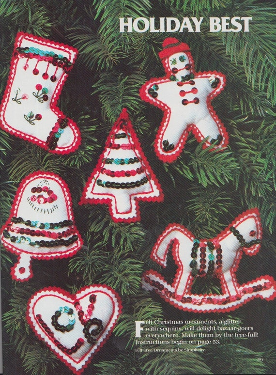 Christmas Crafts To Sell At Bazaar.Simplicity Vintage 80s Bazaar Crafts To Make And Sell Over 50 Projects To Knit Sew Gift Giving Christmas Decor Bazaar Classics