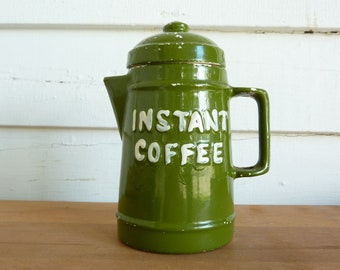 Vintage Knobler Instant Coffee Jar