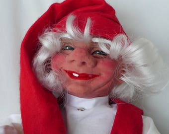 Large Woman Gnome by Arne Hasle, made in Norway, Vintage Nisse Elf Troll Gnome Goblin, Signed