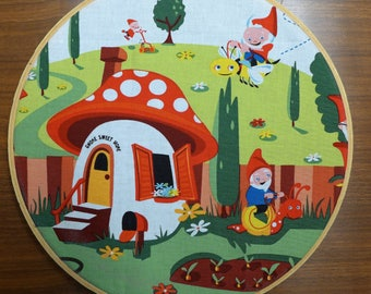 Gnome Sweet Gnome Large Hoop Wall Hanging