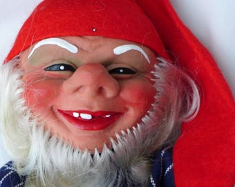 Large Man Gnome by Arne Hasle, made in Norway, Vintage Nisse Elf Troll Gnome Goblin, Signed