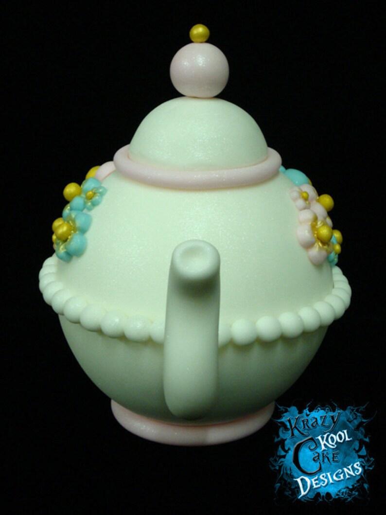 Teapot Cake Topper   Etsy