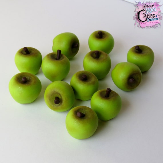 Green Apple Cake Toppers Etsy