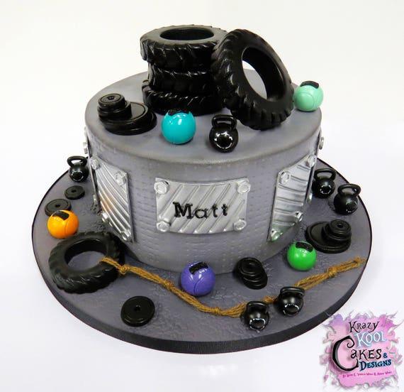 CrossFit Equipment Cake Topper Set | Etsy