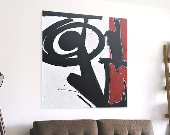 Heavy | Large Wall Art | Red and Black Painting