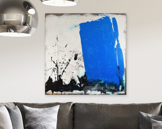 Blue Monolith | Blue Abstract Painting | Abstract Wall Art