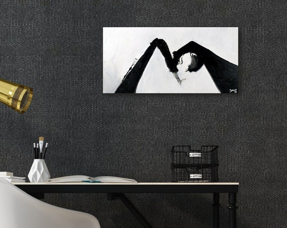 Margaux | Black and White Art | Abstract Painting
