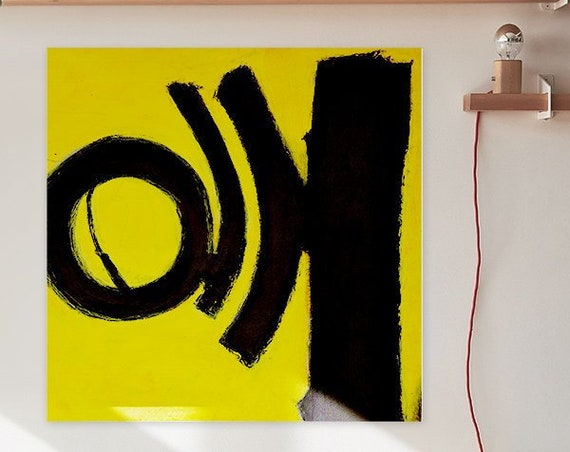 Boring | Yellow Abstract Art | Abstract Painting