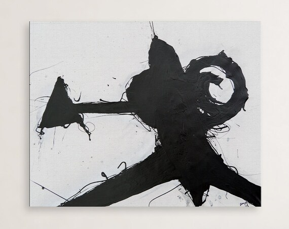 Fend, Abstract Painting Black and White | Modern Wall Art