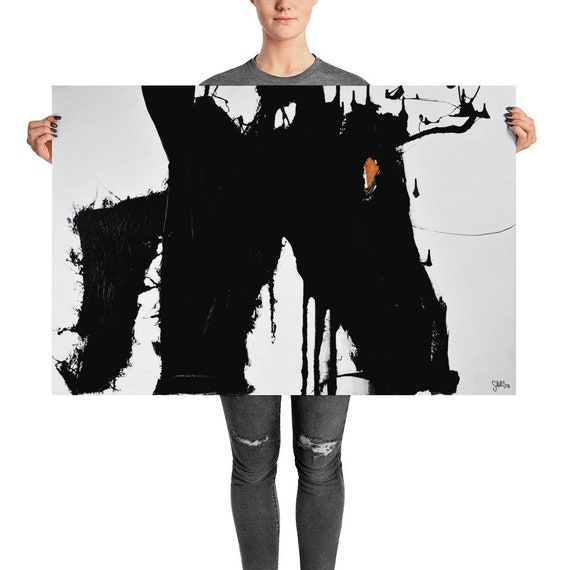 Untitled No. 9 | Black and White Abstract Art Print | Minimalist Print