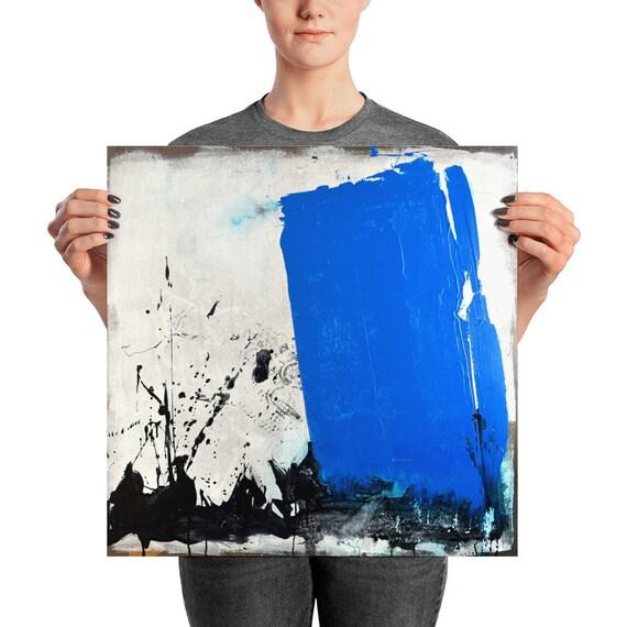 Blue Monolith | Blue Abstract Art Print | Blue Art Print