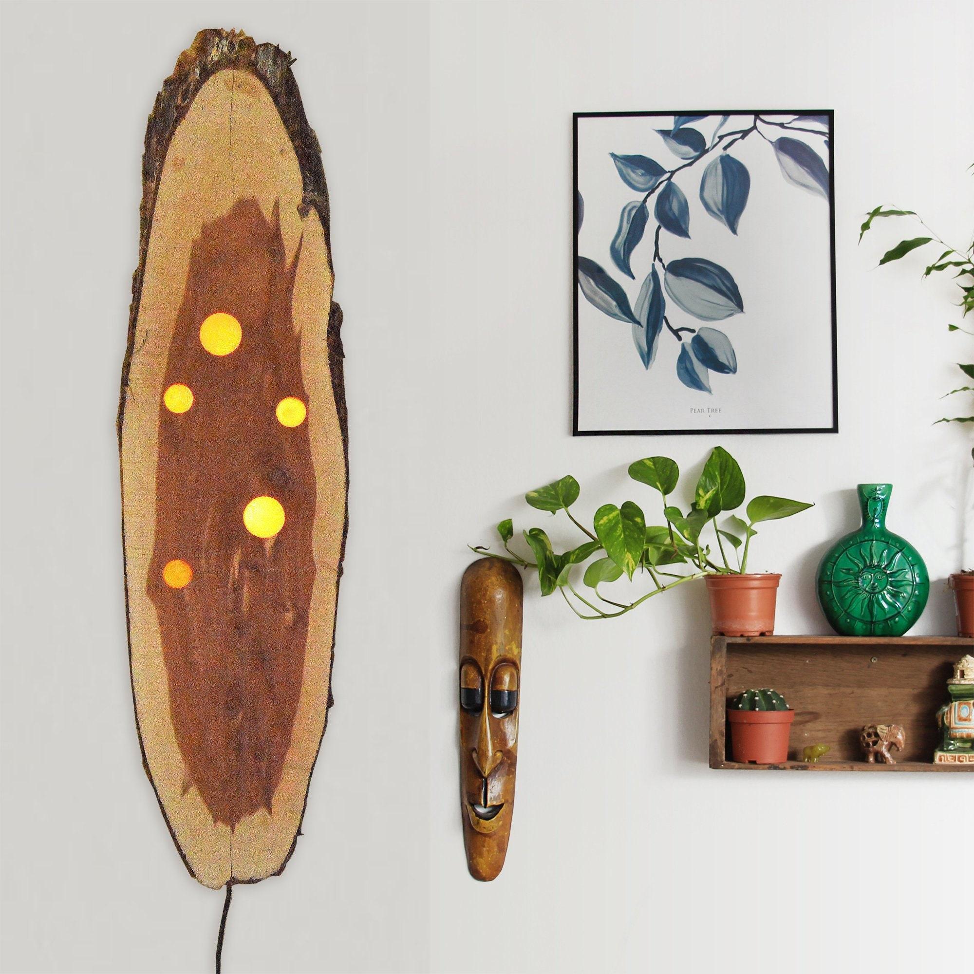 Wall Sconce Rustic Wall Decor Wood Light Wall Lighting Etsy