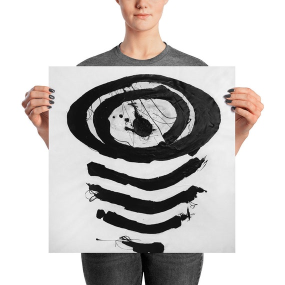 In Boring Company | Black White Abstract | Black White Art Print