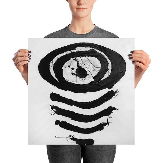 In Boring Company | Black White Abstract | Black White Art Print