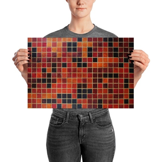 "Abstract Pixel Art Print, ""Point 336"" Abstract Painting"