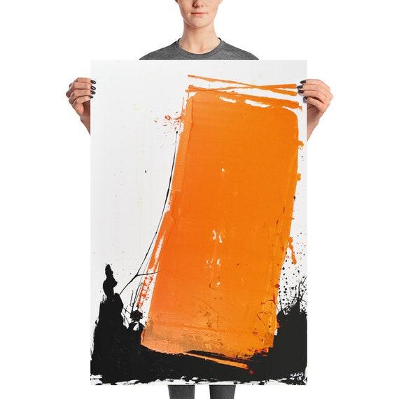 Orange Monolith | Orange Abstract | Art Print | Orange Art Print | Wall Art Print