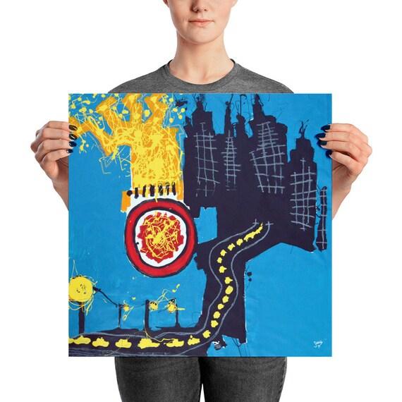Civil Star Art Print, Abstract City, Abstract Art Print, Modern Art Print