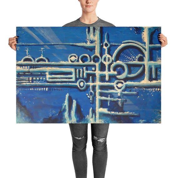 Blue Feel | Blue Abstract Art Print | Blue Abstract Print | Blue Wall Art | Navy Blue Wall Art | Print Abstract Blue