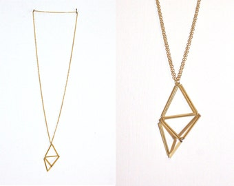 Necklace // gold // triangle geometry
