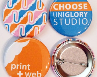 1500 1.5 inch Full color Custom pin back Buttons. We can make ANY size quantity in 3 different sizes.