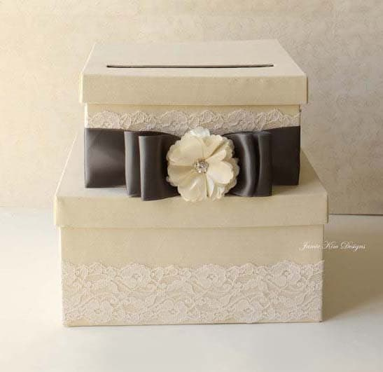 Wedding Card Boxes For Receptions: Wedding Card Box Money Holder Reception Box Custom Made To