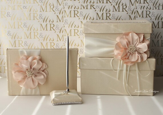 Wedding Card Box Small Size Guestbook And Pen Set Etsy