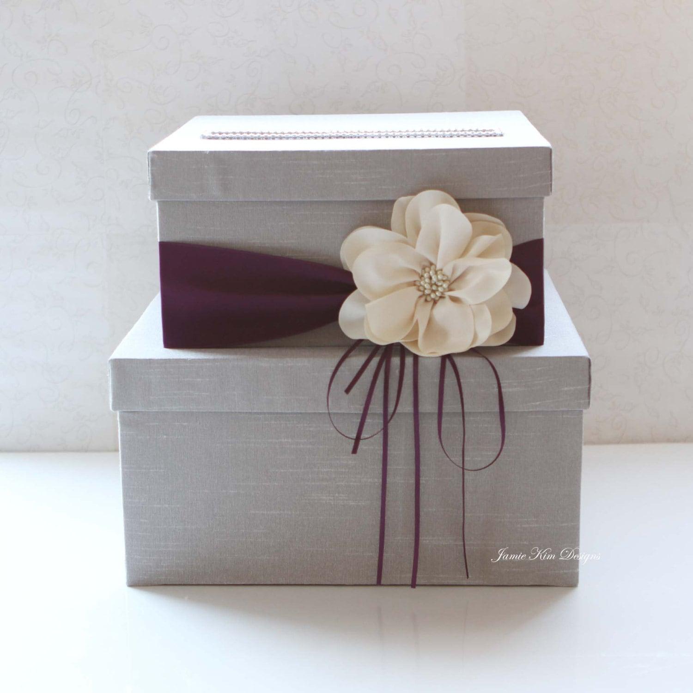 Wedding Card Box: Wedding Card Box Wedding Money Box Gift Card Box Custom
