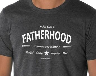 682e85cb Fatherhood Christian Shirt, Following God's Example, Dad Shirt, Father's  Shirt, Clothing, T-Shirt, Christian Apparel, Christian Clothing