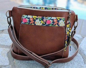 Ditsy s first leather bag! Leather crossbody