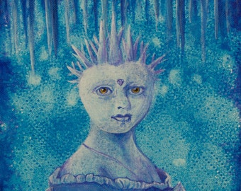 "Empress of Ice Cave - Original Painting - 8"" x 8"""