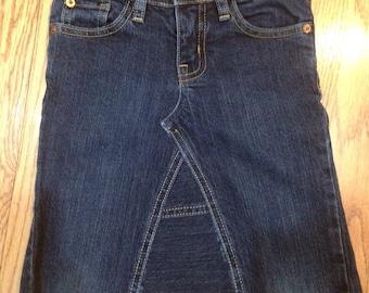 Kids size 5 dark denim jean skirt