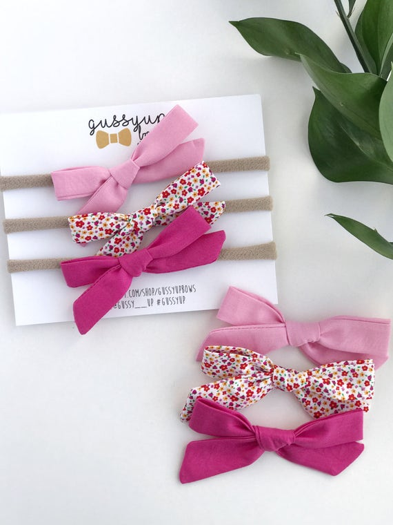 6ecd3b946ac15 Girly Girl Hair Bow Set | School Girl Bow Set | Baby Girl Bow Set | Hair  Bow Set | Discount Hair Bow Set | Pink Hair Bow | Baby Shower Gift